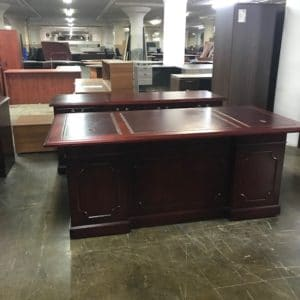 Refinished Kimball Desk & Credenza