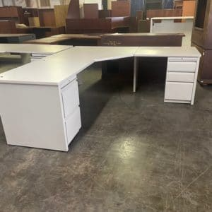 Corner L-Shaped Desk side