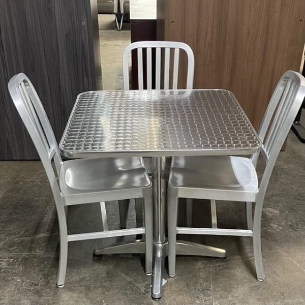 Aluminum Cafe Table Set