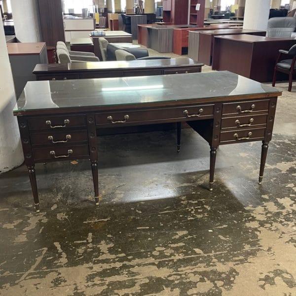 Vintage Myrtle Desk and Credenza