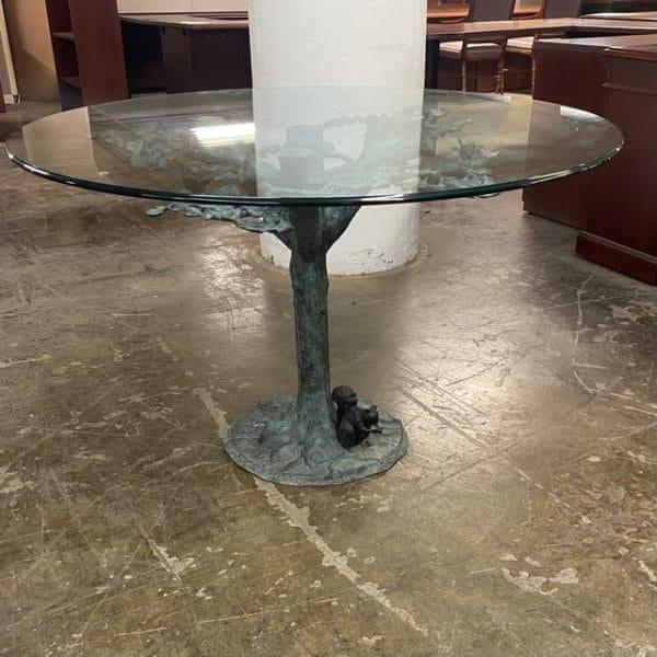 Unique Glass Top Table