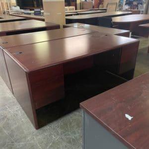 Mahogany Double Ped Desk