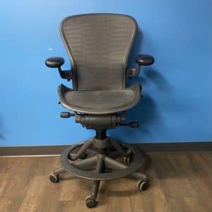 Herman Miller Aeron Chair with Conversion Base
