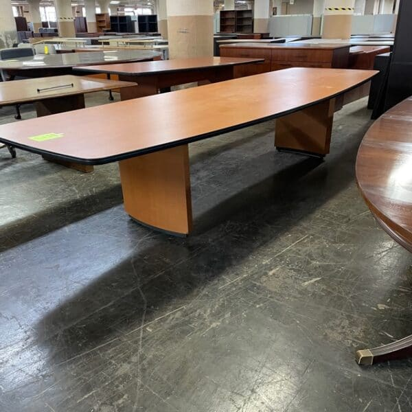 12' Boat Shape Conference Table