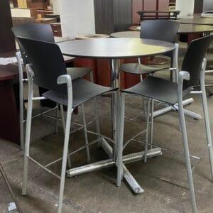 New Round High-Top Café Table